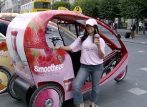 Propaganda + transporte gratuito = Ecocabs