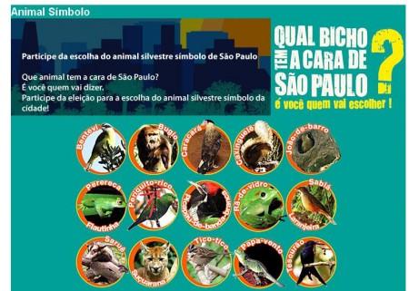 Qual é o bicho que tem a cara de São Paulo?