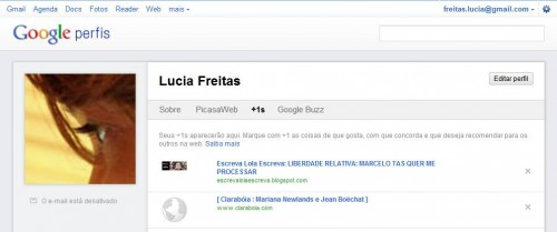 Lucia Freitas - Perfil do Google +1