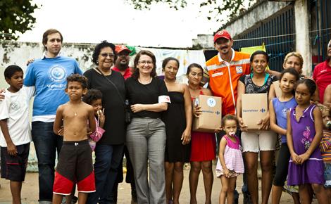 A doação de alimentos pelo virou.gr