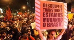 Passeata 13 de junho: desculpe o transtorno, estamos mudando o Brasil