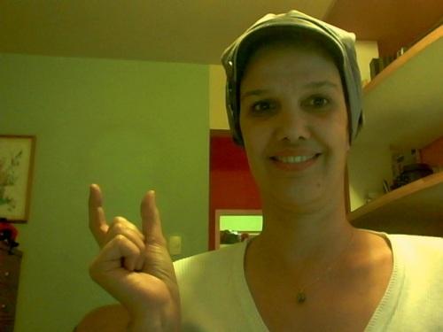 Olha eu ainda sem cabelo contribuindo com a campanha do @Rotary