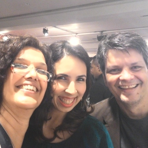 Selfie do Zenfone: Lufreitas, Paula Freitas e Nick Ellis
