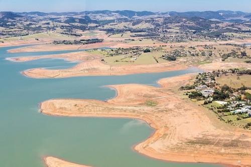 vista aérea da Cantareira, em Bragança, 2014